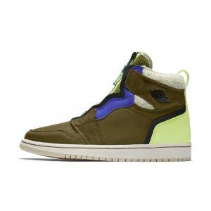 Nike Chaussure Air Jordan 1 High Zip Utility pour Femme - Vert - Taille 40