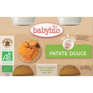 BabyBio Petits pots Patate douce 2 x 130g - dès 4 mois