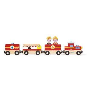 Janod 08540 - Story Train Pompiers Bois