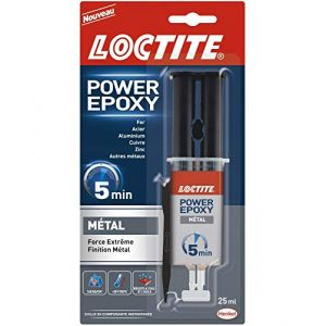Loctite Colle Epoxy Métal 5 Min Seringue - Le Tube De 25 Ml