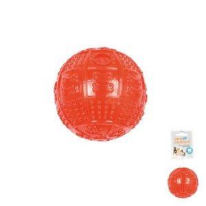 Balle distributeur de croquettes en plastique diametre 8cm
