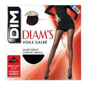 DIM Collant Diam's Voile Galbé Noir T3 - La Paire