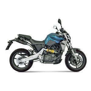Mivv Double silencieux Suono inox noir casquette carbone Yamaha MT-03