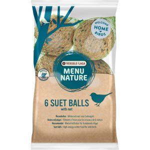 Versele Laga Boules de graisse pour oiseaux de la nature Menu Nature - Sachet de 6 boules de 90 g avec filet