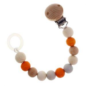 Hess-Spielzeug Spielzeug Attache-sucette attache-sucette, naturel/orange
