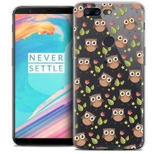 CaseInk Coque OnePlus 5T (6 ) Extra Fine Summer Hibou