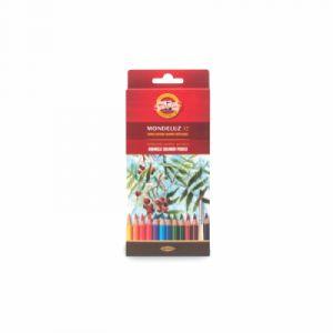 Koh-I-Noor Mondeluz Fruit Crayons de Couleur Aquarelle (Set de 12)