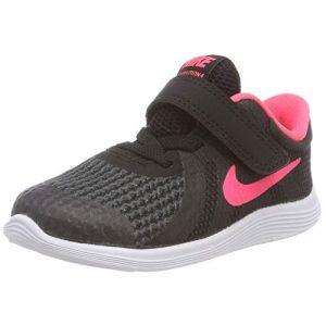 Nike Kleinkinder Sneaker Revolution 4, Sneakers Basses Mixte Enfant, Noir (Black/Racer Pink. 004), 27 EU