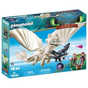 Playmobil Dragons - Furie éclair bébé dragon et enfants - 70038