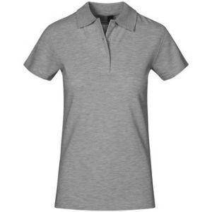Promodoro Polo supérieur grandes tailles Femmes, XXXL, gris clair chiné