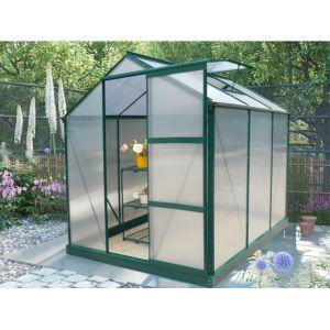 Serre de Jardin en polycarbonate de 3,4m² GIARDINA avec em