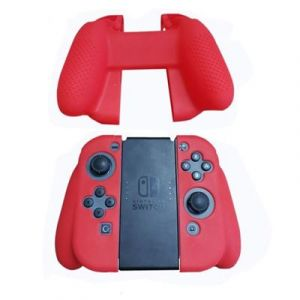 Straße Game Housse Silicone Manette de Protection pour Joy-Con de Nintendo Switch - Rouge