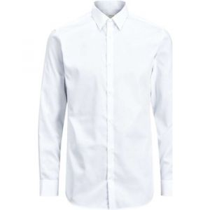 Jack & Jones Premium Jprnon Iron Shirt L/s Noos, Chemise Business Homme, Blanc (White Fit:Slim Fit), X-Large