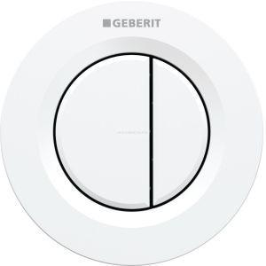 Geberit Bouton poussoir blanc - Double touche - Réservoir dissimulé -