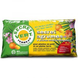 Secret vert Terreau bio pour agrumes et plantes méditerranéennes 40 L