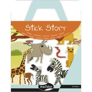Maildor Stickers repositionnables Stick Story thème savane
