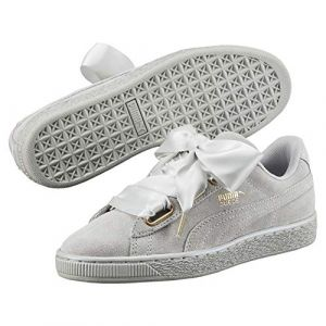 Puma Suede Heart Satin Wn's - Baskets Femme, Gris