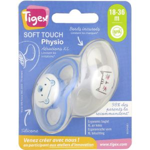 Tigex Sucette Physio Silicone 18-36 Mois - Les 2 Sucettes