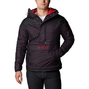 Columbia Lodge Veste Pull Homme, dark purple/shark/mountain red XL Manteaux d'hiver