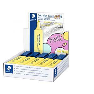 Staedtler Textsurfer Classic 364 Edition Colors - Surligneur Pointe Biseau 1 À 5 Mm+D1170 - Jaune - Boite de 10