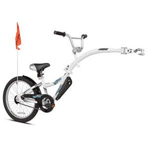 Weeride Copilot Vélo remorque Semi-Tandem Mixte Enfant, Blanc, 50,8 cm