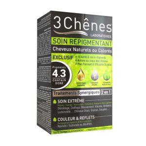 3 Chênes Soin repigmentant cheveux naturels ou colorés - 4.3 châtain doré