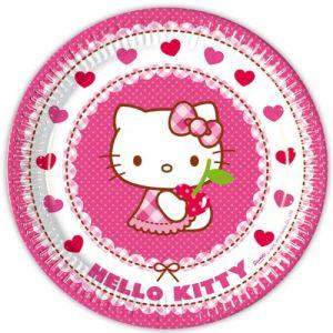 8 assiettes Hello Kitty (23 cm)