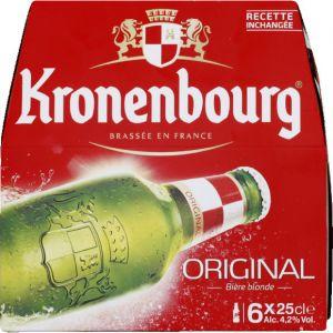Kronenbourg Bière blonde, 4,2%vol. - Les 6 bouteilles de 25cl
