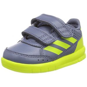 Adidas AltaSport CF I, Chaussures de Gymnastique Mixte Bébé, Gris (Raw Steel S18/Semi Solar Yellow/Grey), 25 EU