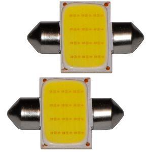 Aerzetix : 2x ampoule C5W 12V LED COB HIGH POWER 1.5W 31mm navette éclairage intérieur plaque d'immatriculation seuils de porte plafonnier pieds lecteur de carte coffre compartiment moteur