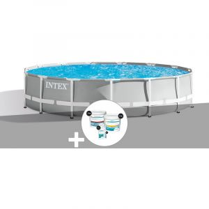 Intex Kit piscine tubulaire Prism Frame ronde 4,57 x 1,07 m + Kit de traitement au chlore