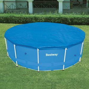 Bestway 58038 - Bâche 4 saisons pour piscine tubulaire ronde Steel Pro Frame Ø 457 x 91 cm