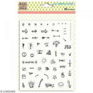 Toga 55 tampons transparents «icônes» - 14x18 cm - Bullet Journal©