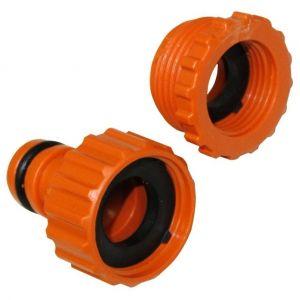 Aerzetix Adaptateur raccord connexion Nez de robinet 1/2 et 3/4 vers connecteur rapide pour tuyau d'arrosage