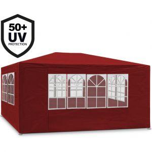 Deuba Tonnelle Maui - 3x4m - Rouge - Barnum revêtement imperméable - Pavillon Tente de jardin