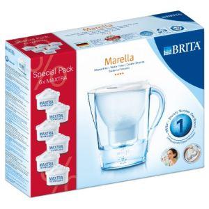 Brita Marella Cool - Carafe filtrante 2,4 L + 6 cartouches Maxtra