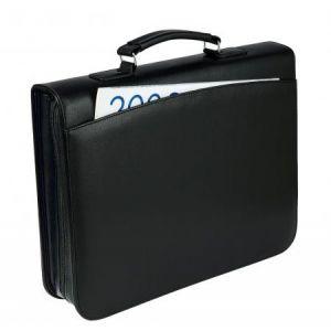 Wedo 58 3001 - Conférencier Orga, format A4, simili cuir grainé, noir