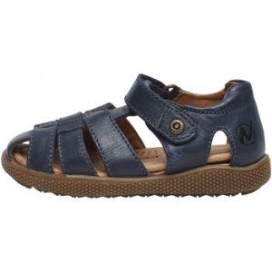 Naturino Sandales enfant GENE-Chaussure semi-ouverte en cuir bleu - Taille 37,23,24,25,26,27,28,29,30,31,32,34