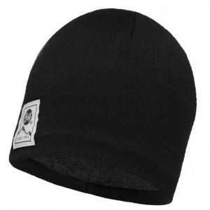Buff Knitted & Polar Hat Solid - Bonnet taille One Size, noir