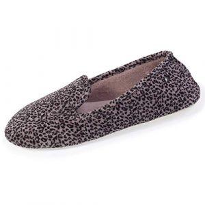 Isotoner Chaussons Slippers imprimé léopard Femme