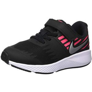 Nike Star Runner (PSV), Sneakers Basses Fille, Multicolore (Black/Metallic Silver/Racer Pink/Volt 001), 28 EU