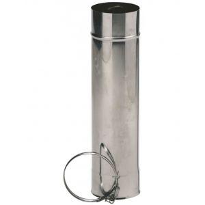 Ten Tuyau inox 316 6/10ème + collier de sécurité L:0.50 D: 139 Ep: 0.6 850139