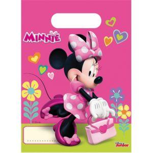 6 sacs cadeaux Minnie Happy
