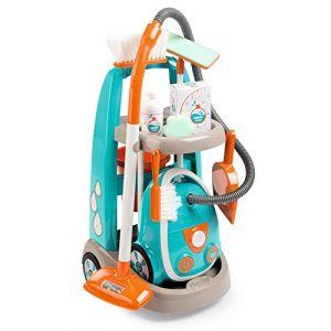 Smoby Chariot de ménage + Aspirateur