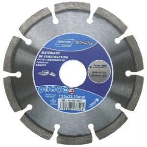 Norton clipper Disque diamant - Laser 200 - D: 125 mm - Disque pour meuleuse