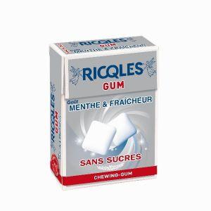 Ricqlès Chewing Gum sans sucres blancheur et hygiene 24g