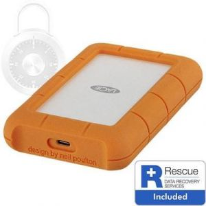 Lacie Rugged Secure STFR2000403 - Disque dur 2 To USB 3.1 Gen 1 / Thunderbolt 3