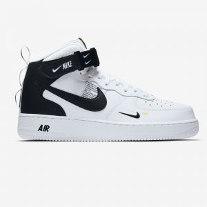 super popular bb471 03c0d Nike Chaussure Air Force 1 07 Mid LV8 Homme - Blanc - Taille 45