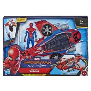 Hasbro Marvel Spider-Man – Véhicule Marvel Spider-Man Far From Home – Véhicule Spiderjet et sa figurine de Spider-Man - Jouet Spider-Man