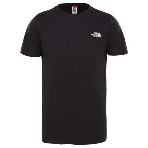 The North Face T-shirts Simple Dome Youth S/s - TNF Black / TNF White - Taille XS